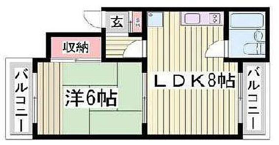 マンション(建物全部)-神戸市長田区四番町1丁目 居住用間取り例
