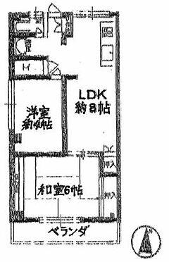 マンション(建物一部)-尼崎市田能5丁目 間取り