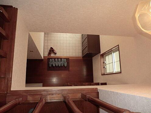 戸建賃貸-熊谷市江南中央3丁目 2階の吹き抜けから1階を見た写真です。