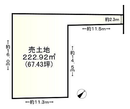 土地-神戸市須磨区友が丘2丁目 区画図