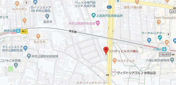区分マンション-世田谷区南烏山1丁目 地図