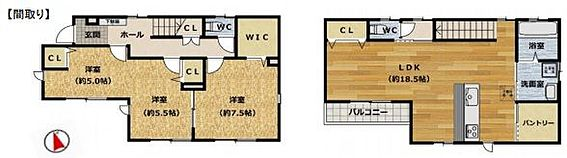 戸建賃貸-安城市桜井町塔見塚 家事導線が考えられた使い勝手の良い間取りです♪