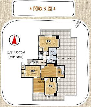 中古マンション-岡崎市東大友町字筆屋 延床:75.76平方メートル/3LDK
