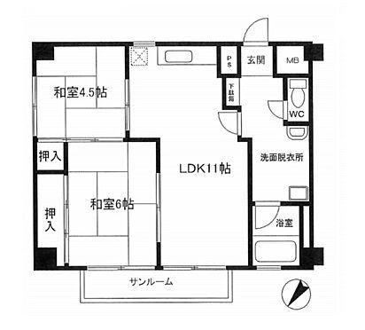 マンション(建物一部)-松戸市小金きよしケ丘4丁目 間取り