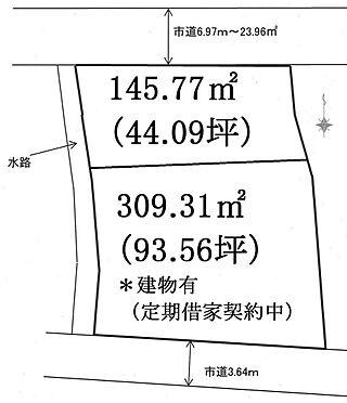 土地-あきる野市横沢 地図