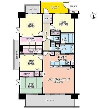 マンション(建物一部)-印西市原2丁目 南西角部屋 115平米の4LDK