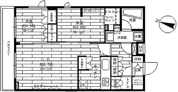 マンション(建物一部)-世田谷区上野毛1丁目 間取り