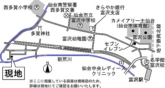 アパート-仙台市太白区富沢3丁目 地図