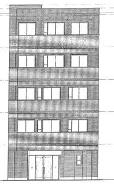 マンション(建物全部)-足立区綾瀬1丁目 マンション正面の立面図です。