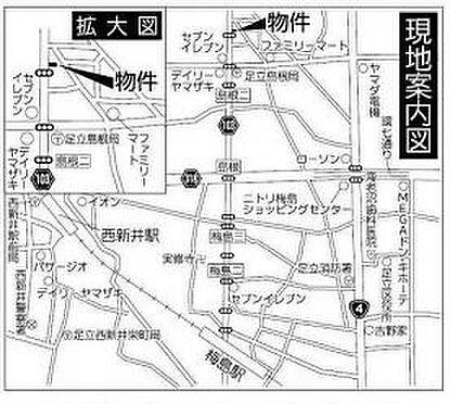 店舗事務所(建物全部)-足立区島根2丁目 地図