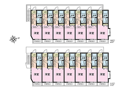 アパート-江戸川区一之江7丁目 1R×14戸(6部屋ロフト付)