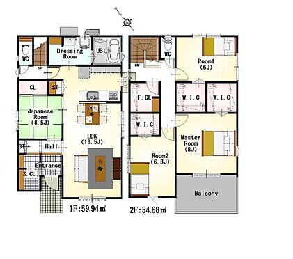 新築一戸建て-名古屋市守山区大字下志段味字西新外 わたし好みの住宅で快適な生活を。壁や床の色味が違うだけでお部屋の印象をガラリと変えることが出来ます。