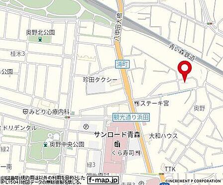 アパート-青森市大字浦町字奥野 地図