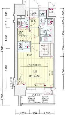 区分マンション-神戸市中央区加納町2丁目 間取り