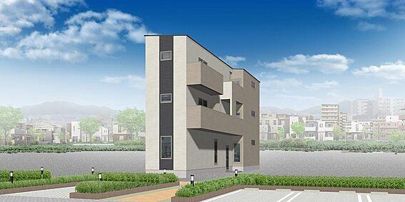 アパート-名古屋市南区豊2丁目 外観パース ※配色等、変更になる可能性もございます。