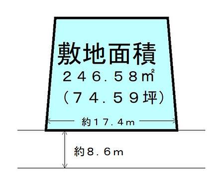 土地-名取市ゆりが丘3丁目 区画図