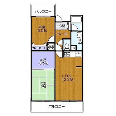 マンション(建物一部)-福岡市東区大字上和白 間取り