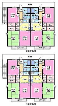 アパート-所沢市上新井5丁目 サンハイツ 間取り図
