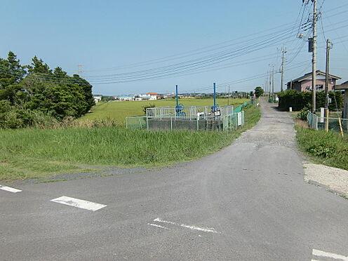 土地-稲敷市大島 南側道路