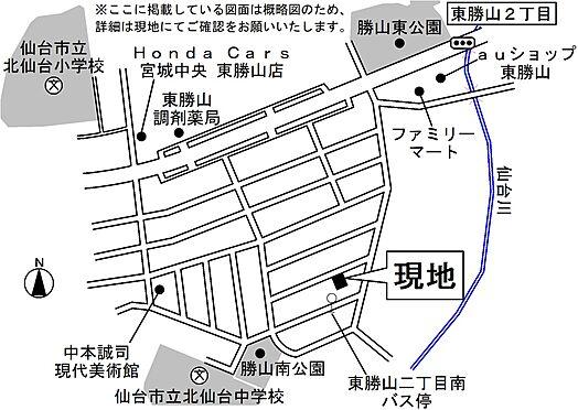 アパート-仙台市青葉区東勝山2丁目 地図