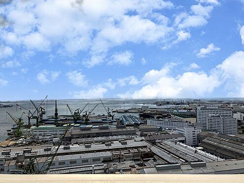 区分マンション-神戸市中央区東川崎町1丁目 バルコニカらの眺望(南方向)