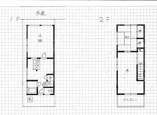 店舗付住宅(建物全部)-八王子市大和田町2丁目 3DK間取り 投資用にも開業用にも
