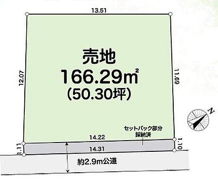 土地-川越市大字安比奈新田 区画図