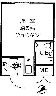 中古マンション-新宿区新宿7丁目 間取り