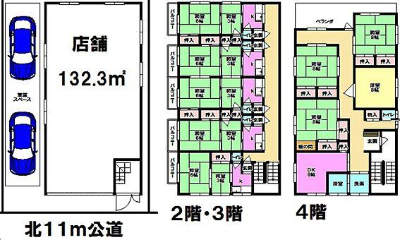 マンション(建物全部)-墨田区緑1丁目 米山ビル 1棟売りマンション 事業用一括の間取りです