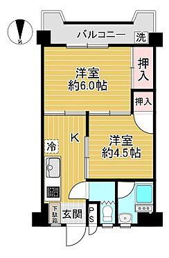 マンション(建物一部)-江戸川区中央2丁目 ハイツオースギの間取りです