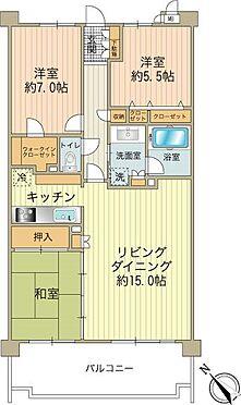 中古マンション-八王子市松木 使い勝手の良い3LDKです