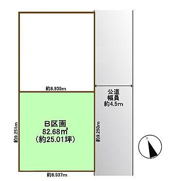 土地-練馬区関町南1丁目 区画図
