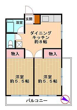 中古マンション-藤沢市藤沢 間取り図