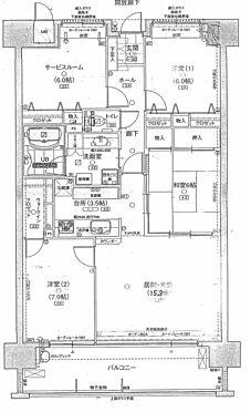 マンション(建物一部)-福山市東桜町 間取り