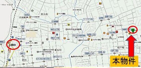 ビル(建物全部)-ひたちなか市笹野町3丁目 地図