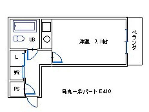 マンション(建物一部)-京都市上京区小川通一条上る革堂町 間取り