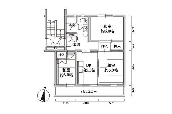 マンション(建物一部)-八千代市村上 間取り
