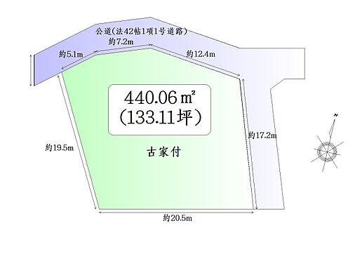 土地-仙台市太白区鹿野本町 区画図