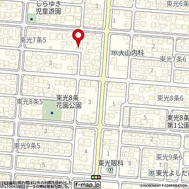 アパート-旭川市東光七条5丁目 地図