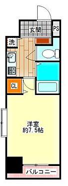 区分マンション-大阪市中央区松屋町住吉 間取り