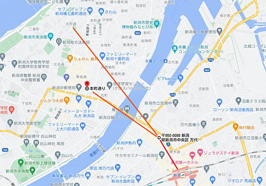 区分マンション-新潟市中央区万代1丁目 地図