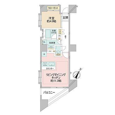 中古マンション-中央区日本橋箱崎町 41.59m2の1LDK