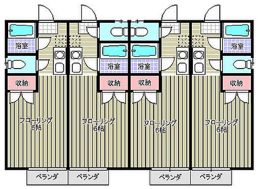 アパート-富里市七栄 2階平面図