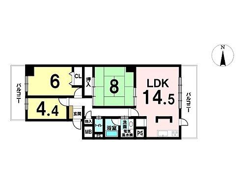 マンション(建物一部)-奈良市あやめ池南3丁目 間取り