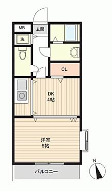 マンション(建物一部)-福岡市中央区福浜1丁目 間取り
