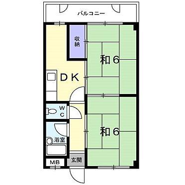マンション(建物全部)-福岡市南区長丘5丁目 3階間取り