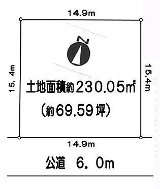 土地-八王子市めじろ台2丁目 区画図