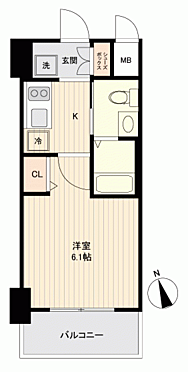 区分マンション-大阪市西区千代崎2丁目 間取り
