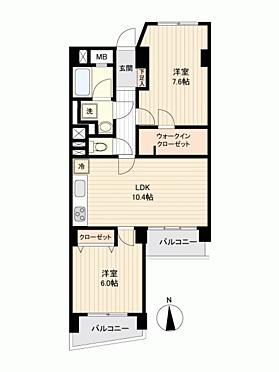 マンション(建物一部)-横浜市南区永田みなみ台 間取り