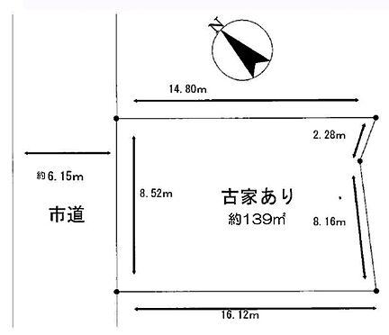 土地-八王子市長沼町 区画図